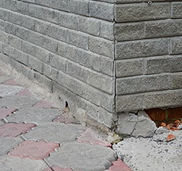 cracking foundation wall and unlevel foundation